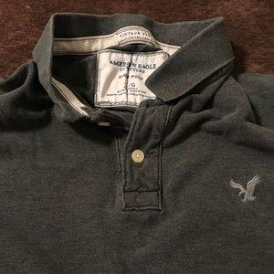 Large dark gray American Eagle polo.